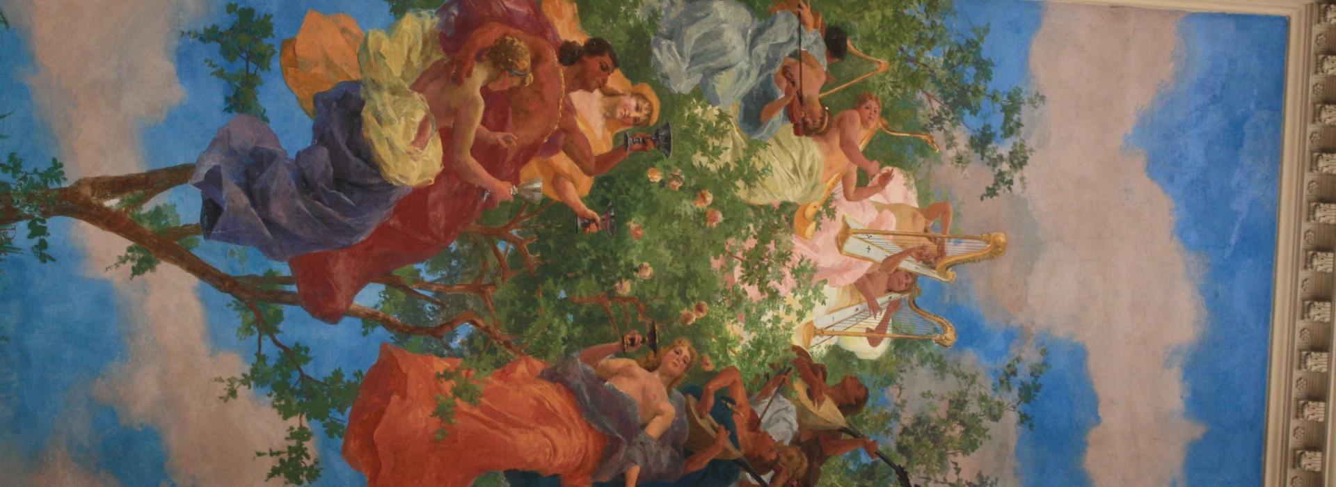 Affresco di Galileo Chini - Holtel La Pace Montecatini Terme