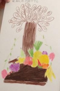 albero liberty e natura morta