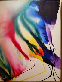 """Phenomena spectrum shift"" (1971) Acrilico su tela 129,7x96 cm - Martha Jackson Gallery, New York"