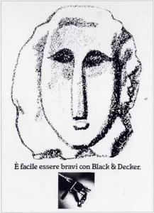Pubblicità Black & Decker dopo la burla e pubblicata sul quotidiano La Repubblica