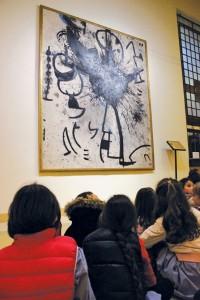 Visite alla grande tela di Miró